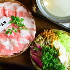 【串カツ付き】和歌山県すさみ町のブランド豚使用『イブ美豚のしゃぶしゃぶコース』◇ランチタイムも受付可