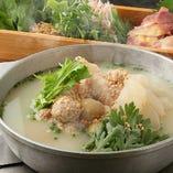 人気!高原比内地鶏の煮込み健康鍋~白鍋~ 2名様より注文可能 ¥5000税別
