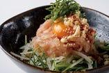 鶏生ハムのユッケ仕立て ¥930税別