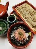 【食事】手打ち蕎麦と小丼のセット【北海道】