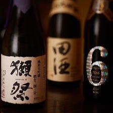 厳選の地酒・焼酎を多数ご用意。