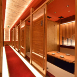 個室は歓送迎会や接待などにご利用いただけます。最大50名様対応