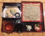 野菜天ぷら付そば