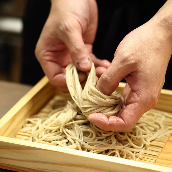 北海道産の最高級そば粉を使用