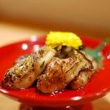 牡蠣の西京味噌漬け炙り焼