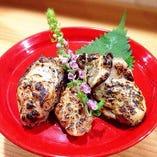 牡蠣の西京味噌漬け炙り焼き