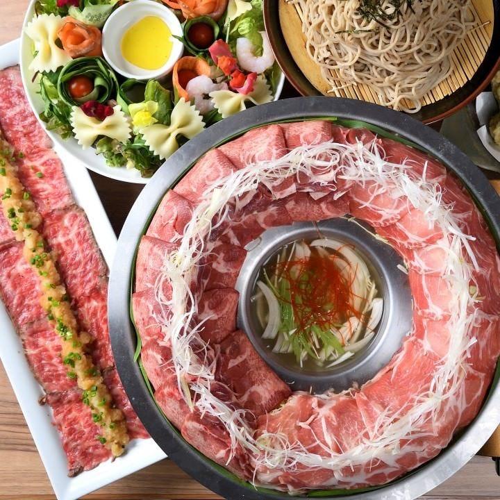 【週末も3時間】牛タンの炊き肉鍋付 全10品 3時間飲み放題 雅コース4,200円