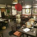 京都をイメージした店内空間