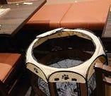 ケージは3つご用意しています…椅子・座席に乗せる際は必ず敷物をご用意ください(トイレシーツはNG)