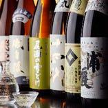 日本酒は常時8種のほか、季節に合わせた銘柄も取り揃えました
