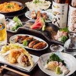 蕎麦や焼鳥、逸品を味わうコースが今だけお得。4,500円(税抜)〜