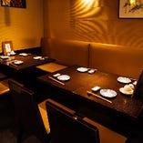 【2〜最大14名様】ゆったりくつろげるダイニングテーブル席でお食事