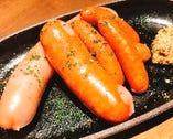 越乃黄金豚フランクと県産豚ソーセージ盛り合わせ