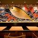 新種の巨大マグロをイメージして書いたインパクトのある壁画