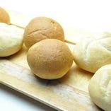 本日のパン2種盛り合わせ