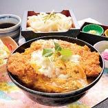 熟成かつ丼セット(熟成かつ丼・選べる麺・サラダ・漬物)