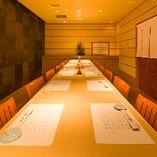 【完全個室】 8名様までの個室×2室 つなげて14名様最大16名様