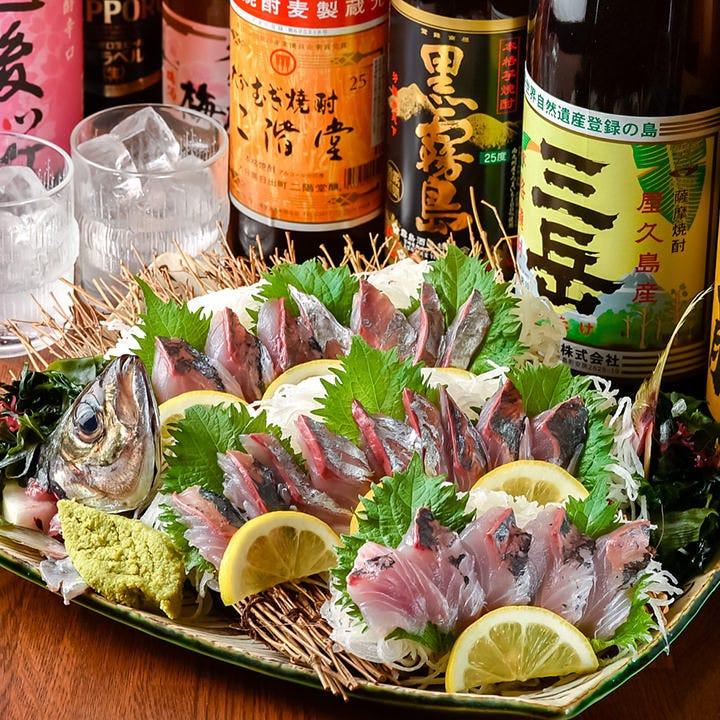生簀から水揚げしたばかりの鮮魚は食感も味わいも格別の美味しさ