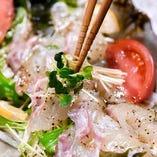 新鮮な魚は食感も味も格別の美味しさ!