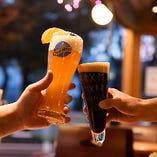 [屋根付ビアガーデン] 樽生クラフトビールを飲み放題で満喫♪
