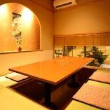 4名様までの個室はご接待や記念日にも最適な和の上質空間です。