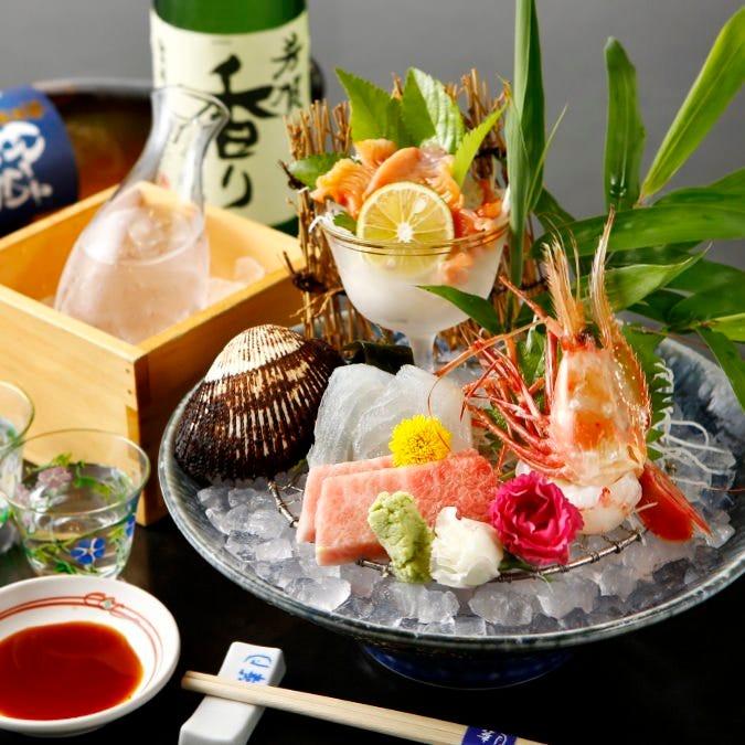 産地直送の新鮮素材を使用、 だから華月の魚はいつも新鮮です。