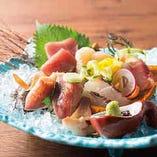 本日の盛合せ6点1,290円!新鮮な鮮魚をお楽しみ下さい☆