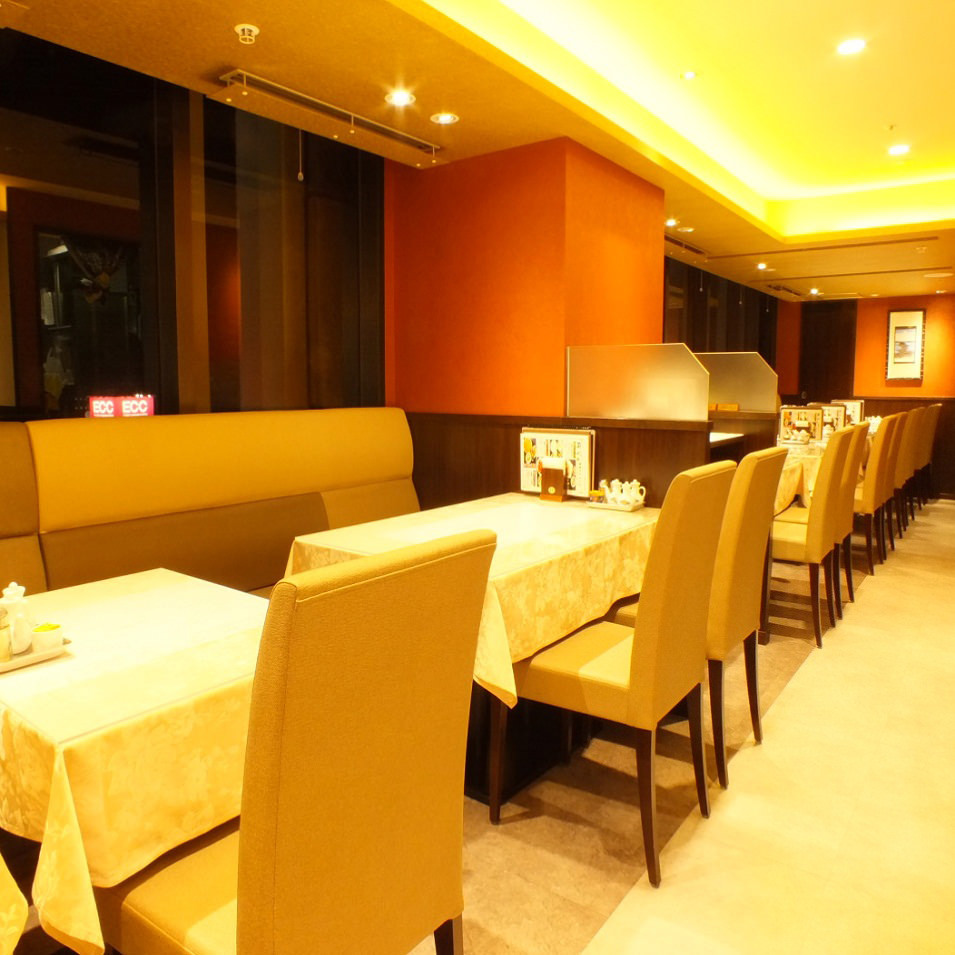 眺望の良いレストラン席