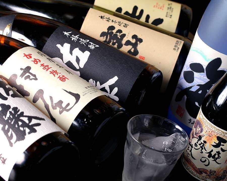 酒好き必見。種類豊富な焼酎の品揃え