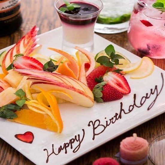 新宿店でお誕生日をお祝い♪