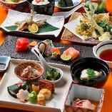 旬の食材をふんだんに使用した季節のお料理を様々なお集まりで満喫『会席5,000円(税込)コース』<全9品>