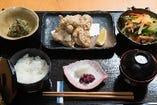 鶏塩唐揚げ定食
