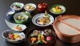 【京会席 葵・皐】 旬の食材を使用した会席をご賞味下さい。