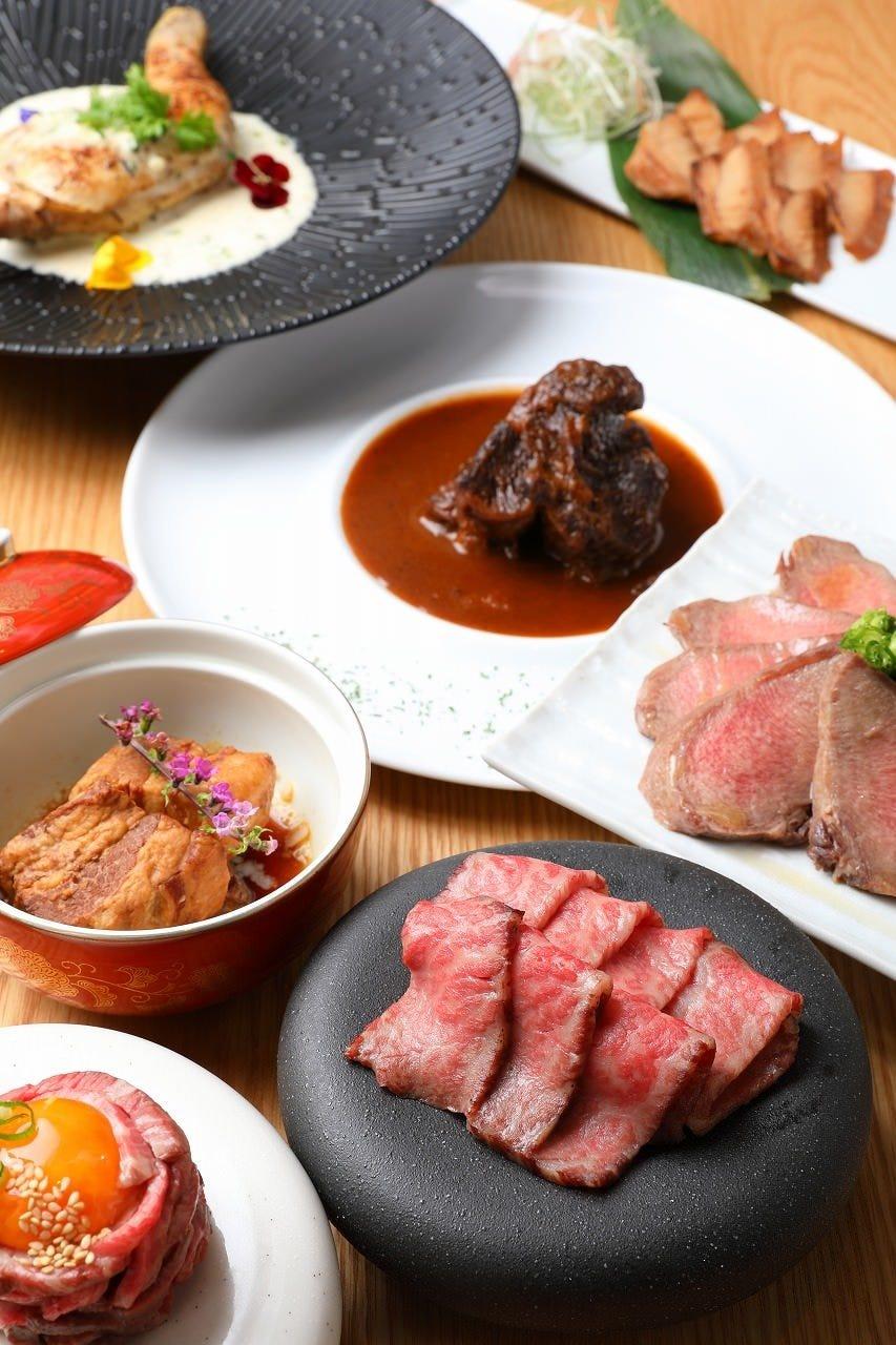 お食事のみ【天コース】自慢の創作料理によるその日の料理お任せコース