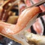 蟹の刺身も食べ放題6