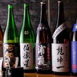 金市朗では月替わりの日本酒や焼酎もご用意しております。