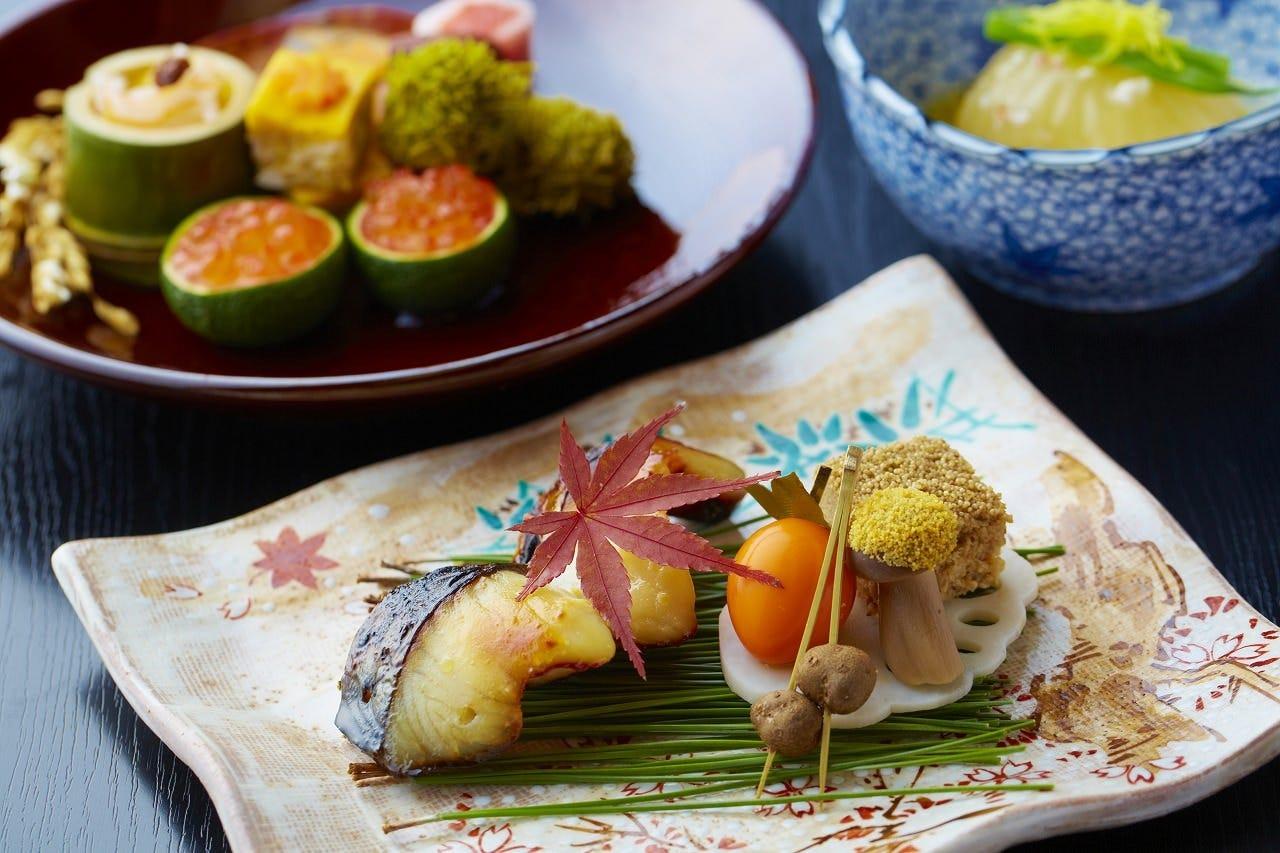 旬の食材をふんだんに使った京懐石