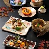 京懐石 旬の食材と季節の味覚を。