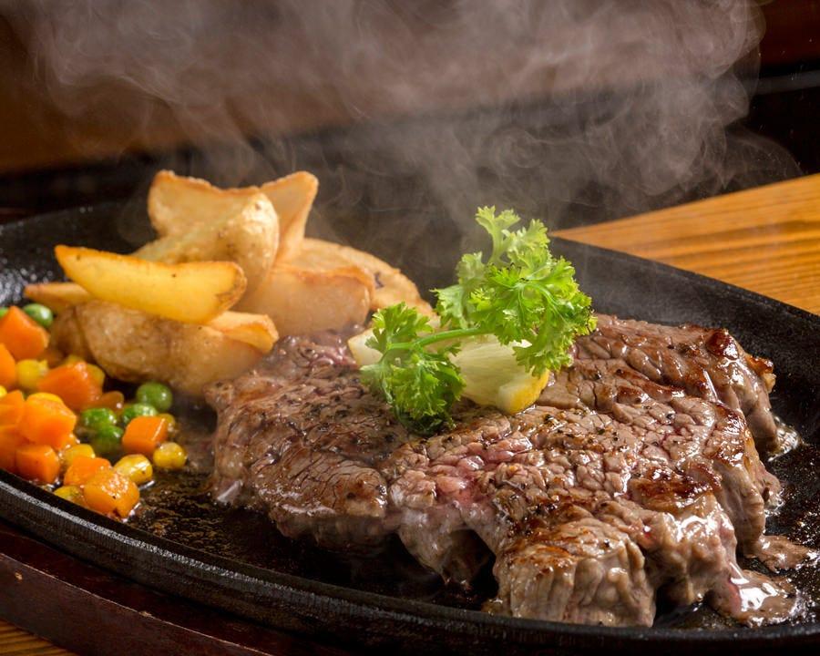 沖縄ブランド牛「石垣牛」やあぐ~を始め沖縄の『肉』を鉄板で♪