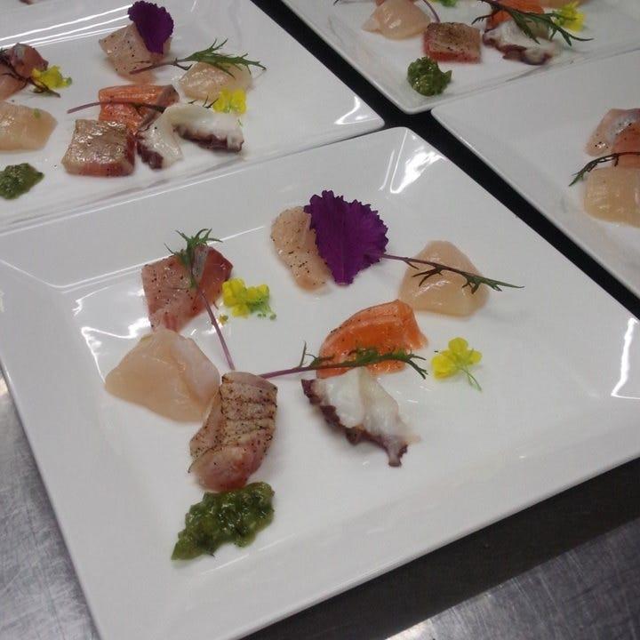 色鮮やかな海鮮料理