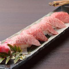 あら川名物!A5黒毛和牛ミスジの炙り寿司 5貫