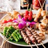◆自慢の串焼き◆ 串焼きは職人が炭火で丁寧に焼き上げます。