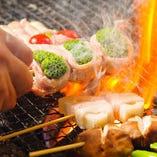 ◆新名物◆ 丁寧に巻き上げた博多野菜巻き串!