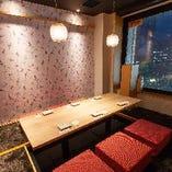 接待など特別な席に!「オトナの完全個室席」