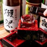 こだわりの日本酒も多数ご用意!!逸品料理に合います!!