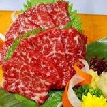新鮮!馬肉料理が玉金では食べられます!!