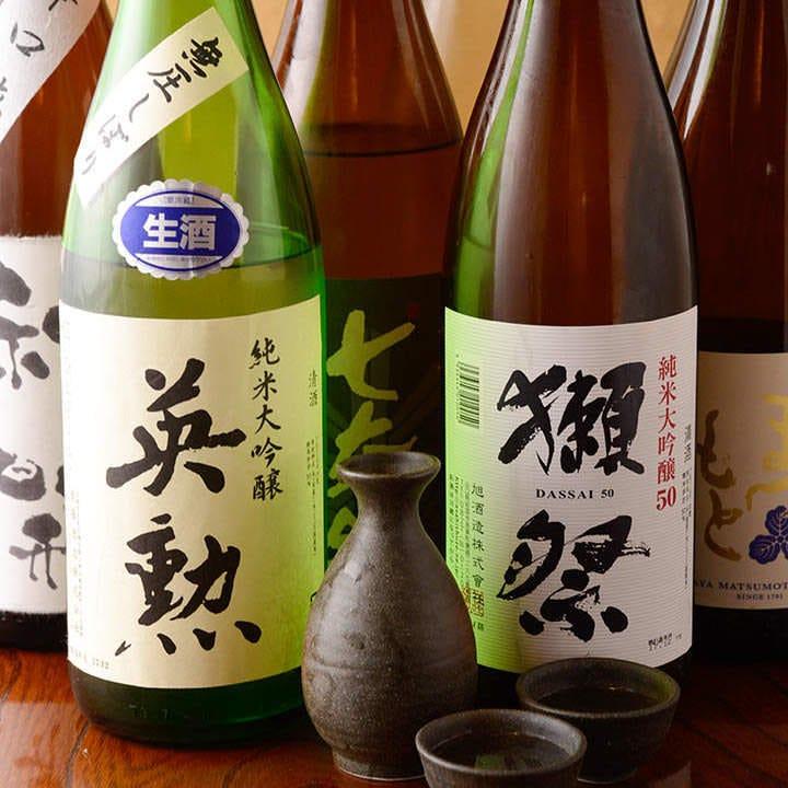 関西の地酒を中心に、人気銘柄が多数