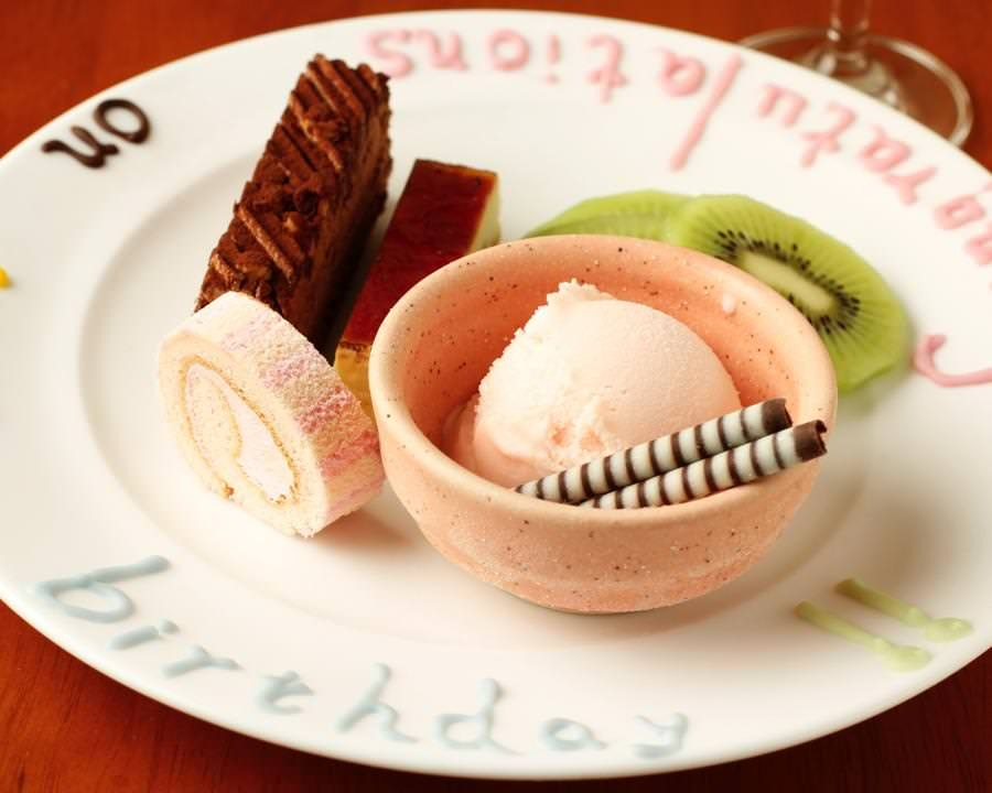 誕生日記念日特典!デザートプレート