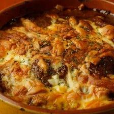 ベーコンと茄子のトマトオーブンチーズ焼き