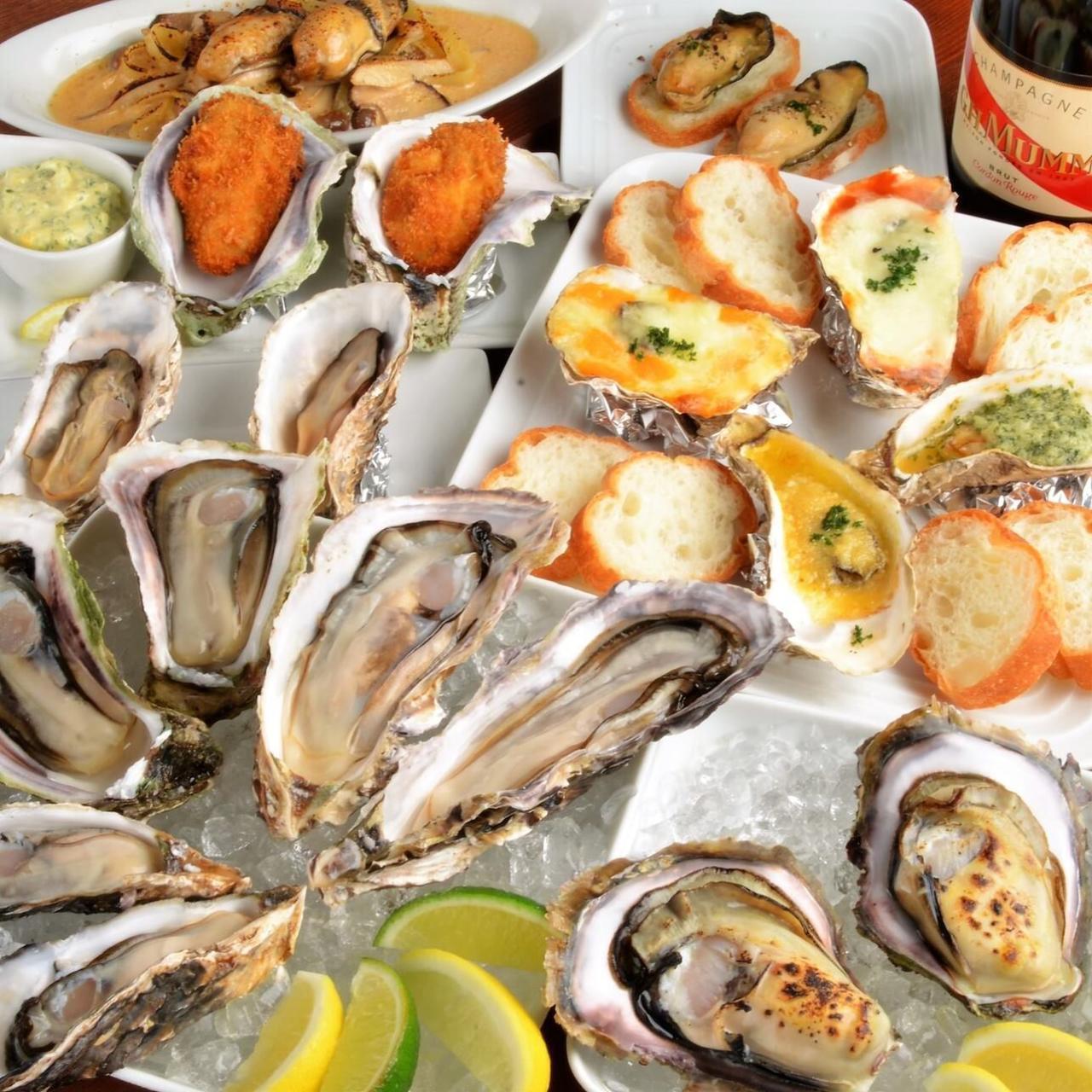バリエーション豊富な牡蠣料理♪